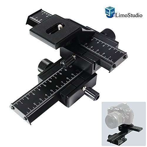 LimoStudio Photography Studio 4 Way Photo Shooting Macro Focus Rail Metal Slider For DSLR Digital...