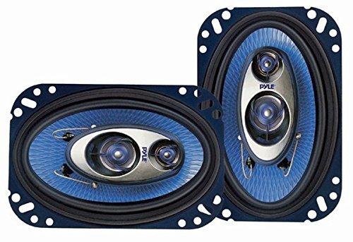 Pyle 4'' x 6'' Three Way Sound Speaker System - Pro Mid Range Triaxial Loud Audio 240 Watt per Pair...