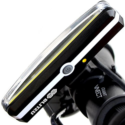 BLITZU Cyborg 168H USB Rechargeable Headlight Super Bright Bike Light - Helmet Front Light...