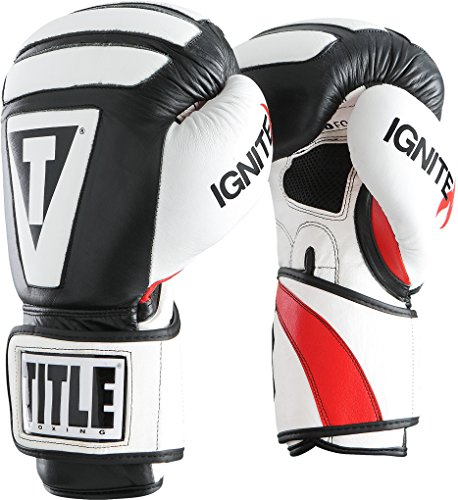 Title Infused Foam Ignite I-Tech Bag Gloves, Black/White, 12 oz