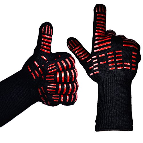 TTLIFE BBQ Gloves - Grilling Cooking Gloves - 932°F Extreme Heat Resistant Gloves - 1 Pair (Long...