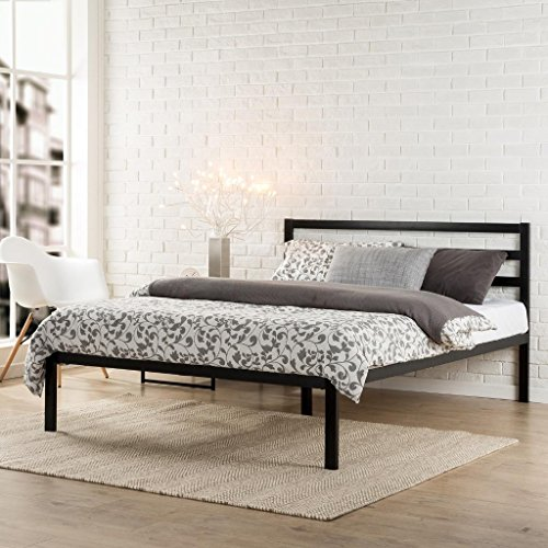 Zinus Mia Modern Studio 14 Inch Platform 1500H Metal Bed Frame / Mattress Foundation / Wooden Slat...