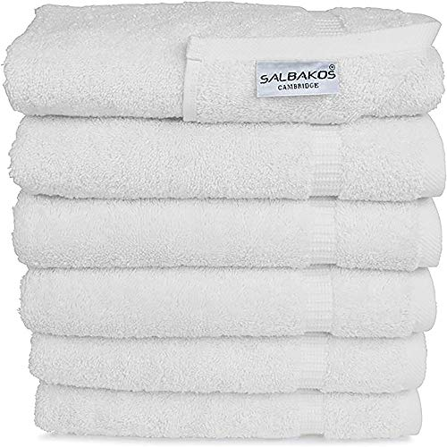 "SALBAKOS Genuine Premium Organic Turkish Cotton Hotel and Spa Hand Towels, 700 GSM, 16""x30"",..."