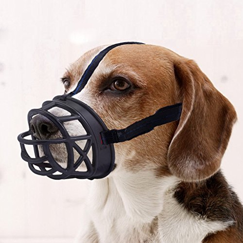 Mayerzon Dog Muzzle, Basket Breathable Silicone Dog Muzzle for Anti-Barking and Anti-Chewing...
