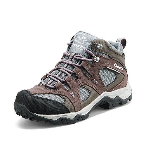 Clorts Women's Mid Waterproof Hiking Boot Suede Leather Outdoor Backpacking Shoe