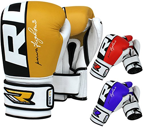 RDX Boxing Gloves Cow Hide Leather Sparring Training Glove Punching Bag Mitts Muay Thai F4