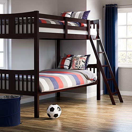 Storkcraft Caribou Solid Hardwood Twin Bunk Bed, Black