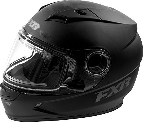 FXR Youth Nitro Primer Helmet W/Electric Shield Anti-Scratch Snowmobile Racing - Black - Medium