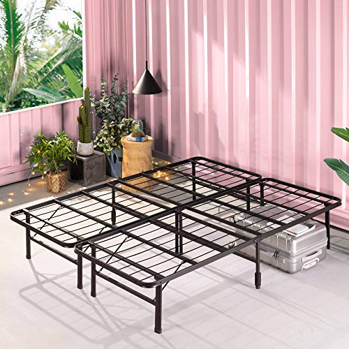 ZINUS SmartBase Zero Assembly Mattress Foundation / 14 Inch Metal Platform Bed Frame / No Box Spring...