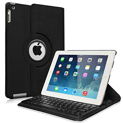 Fintie Rotating Keyboard Case for iPad 4 3 2 (Old Model)- 360 Degree Rotating Stand Cover with...