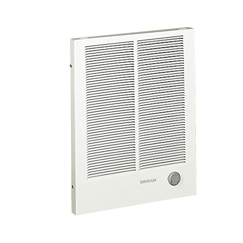 Broan-NuTone 198 High Capacity Wall Heater, White Painted Grille, 4000/2000 Watt 240 VAC,