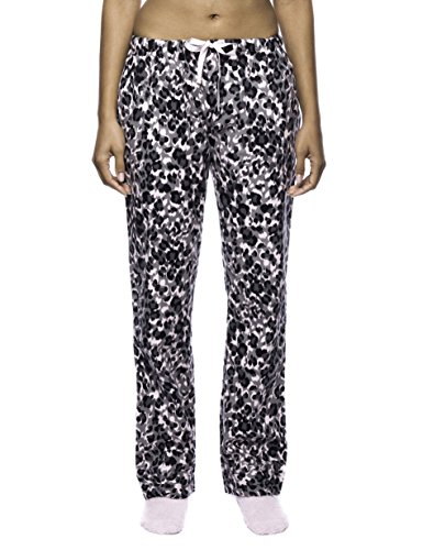 Noble Mount Womens Pajama Pants - 100% Cotton Flannel Lounge Pants - Starry Night Blue- S