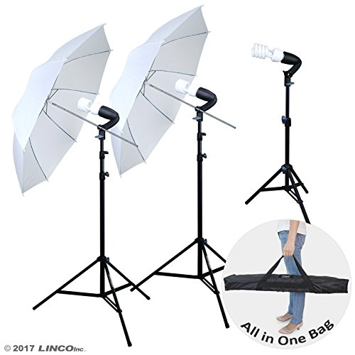 Linco Lincostore Photography Photo Portrait Studio 600W Umbrella Continuous Lighting Kit AM112