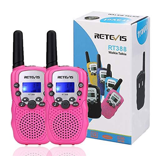 Retevis RT-388 Kids Walkie Talkies, Walkie Talkies for Girls 22CH with Backlit LCD Flashlight Two...