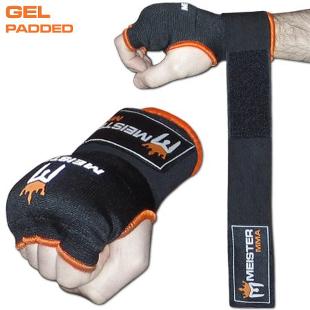 Meister Gel-Padded ProWrap Hand Wrap Gloves (Pair) - Large/X-Large