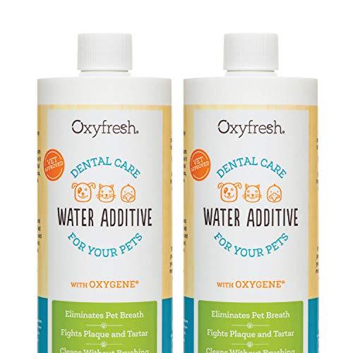 Oxyfresh Premium Pet Dental Care Solution Pet Water Additive: Best way to eliminate bad dog breath...
