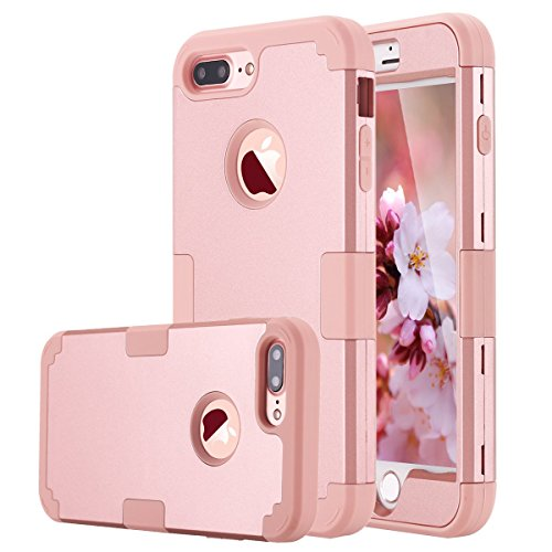LONTECT iPhone 7 Plus Case Hybrid Heavy Duty Shockproof Full-Body Protective Case with Dual Layer...