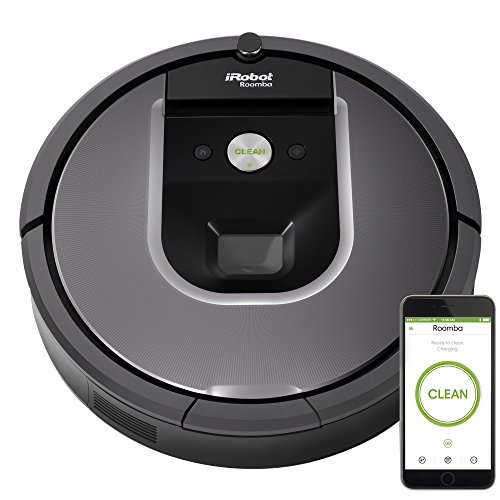 iRobot Roomba 960 Robot Vacuum- Wi-Fi Connected Mapping, Works with Alexa, Ideal for Pet Hair,...