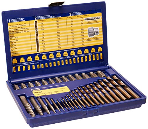 IRWIN Screw Extractor/ Drill Bit Set, 35-Piece (11135ZR)