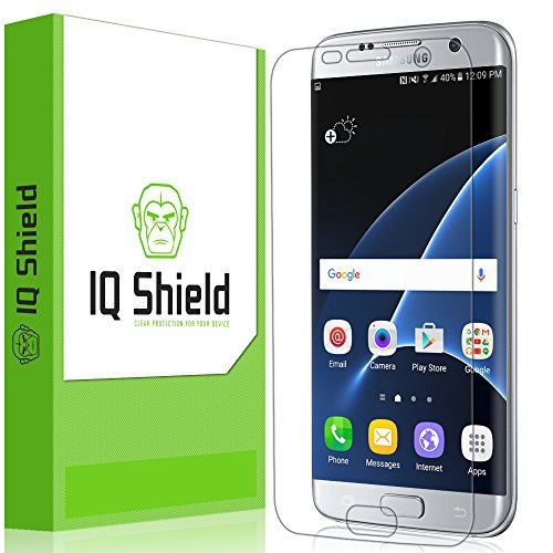 IQ Shield Screen Protector Compatible with Samsung Galaxy S7 Edge (Full Coverage) Anti-Bubble Clear...