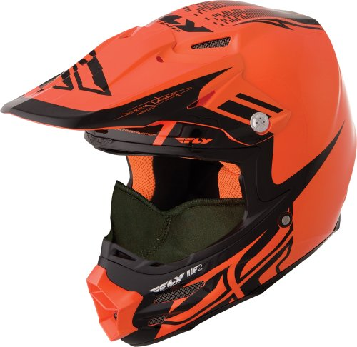 HMK Fly Racing F2 Carbon Dubstep Helmet , Distinct Name: Orange/Black, Gender: Mens/Unisex, Helmet...
