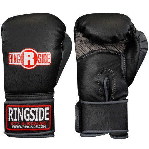 Ringside Synthetic Bag Gloves, Large, Black