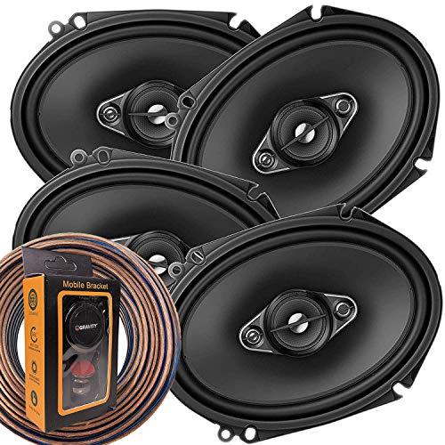 2 Pairs of Pioneer 5x7/ 6x8 Inch 4-Way 350 Watt Car Audio Speakers | TS-A6880F (4 Speakers) + Free...