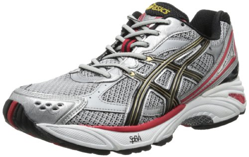 ASICS Men's Gel Foundation 8 Running Shoe,Lightning/Black/True Red,11 M US
