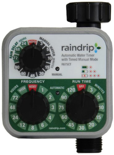 Raindrip R675CT Analog 3-Dial Water Timer, 1, Multi