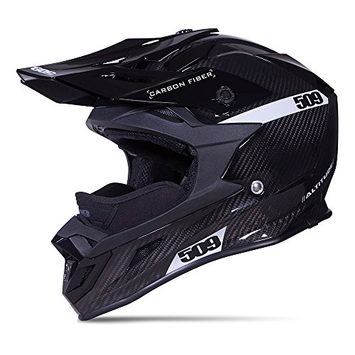 509 Carbon Fiber Altitude Snow Snowmobile Helmet - Gloss Black - 509-HEL-ACG-_