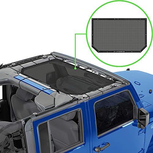 Alien Sunshade Jeep Wrangler JK & JKU (2007-2018) – Front Mesh Sun Shade for Jeep JK Unlimited -...