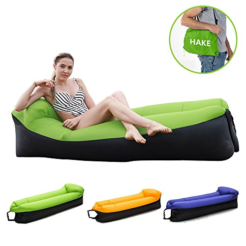 HAKE Inflatable Lounger Inflatable Couch Air Lounger Air Couch Water Resistant Inflatable Hammock...