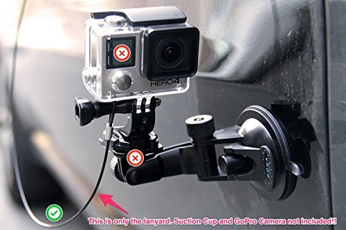 GOMA LASSO Tether for GoPro Hero7 and DJI Osmo Action Cameras - fits all previous GoPro editions -...