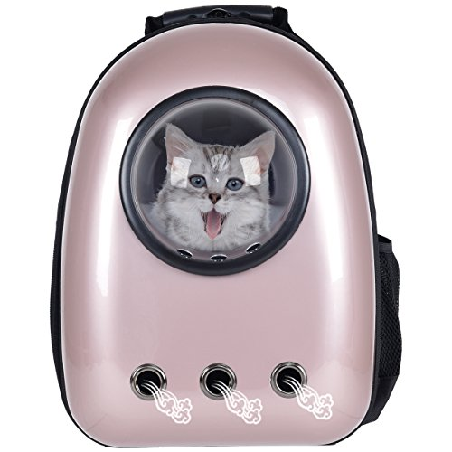 Giantex Astronaut Pet Cat Dog Puppy Carrier Travel Bag Space Capsule Backpack Breathable (Golden...