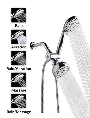"A-Flow8482; 5 Function Luxury 4"" Showerhead - Chrome Finish/Enjoy an Invigorating & Luxurious..."