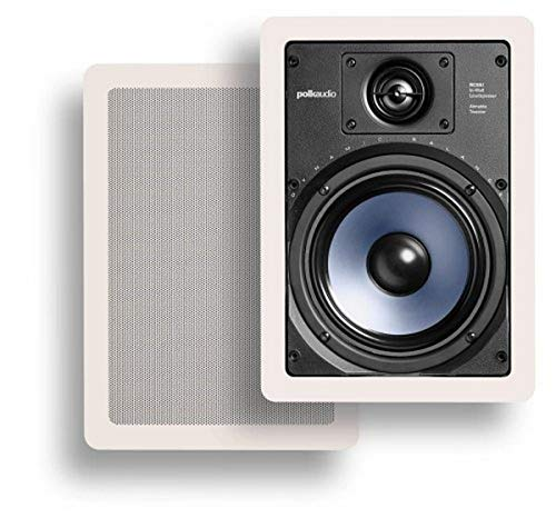 Polk Audio RC65i 2-way Premium In-Wall 6.5' Speakers, Pair of 2 Perfect for Damp and Humid...