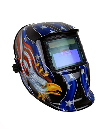 Instapark ADF Series GX-500S Solar Powered Auto Darkening Welding Helmet with Adjustable Shade Range...