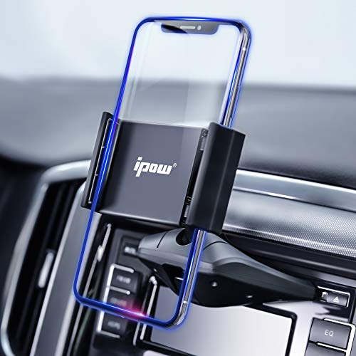 Upgraded IPOW One Button Installation CD Slot Phone Holder, IPOW Car Mount Cradle Stand for iPhone X...