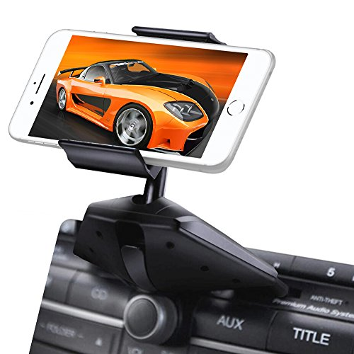 Upgraded IPOW One Button Installation CD Slot Phone Holder with Durable Clamp, IPOW Car Mount Cradle...