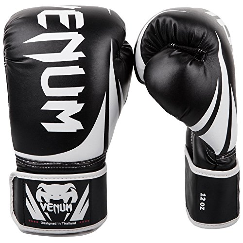 Venum Challenger 2.0 Boxing Gloves - Black/White - 10-Ounce