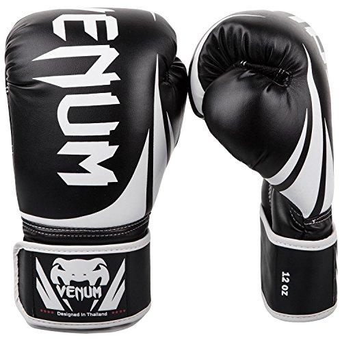 Venum Challenger 2.0 Boxing Gloves - Black/White - 10-Ounce