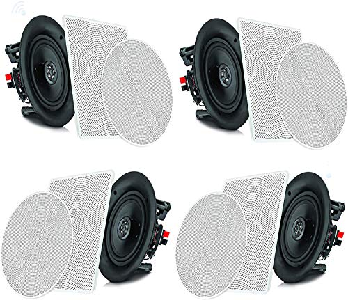 """Pyle 6.5"""" 4 Bluetooth Flush Mount In-wall In-ceiling 2-Way Speaker System Quick Connections..."""