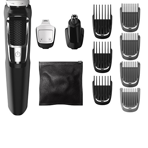 Philips Norelco Multigroom All-in-One Trimmer Series 3000 with 13 pieces - No Blade Oil Needed,...