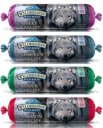 BLUE WILDERNESS WET DOG FOOD ROLLS NATURAL HEALTHY HOLISITC GRAIN FREE BEEF SALMON DUCK CHICKEN...