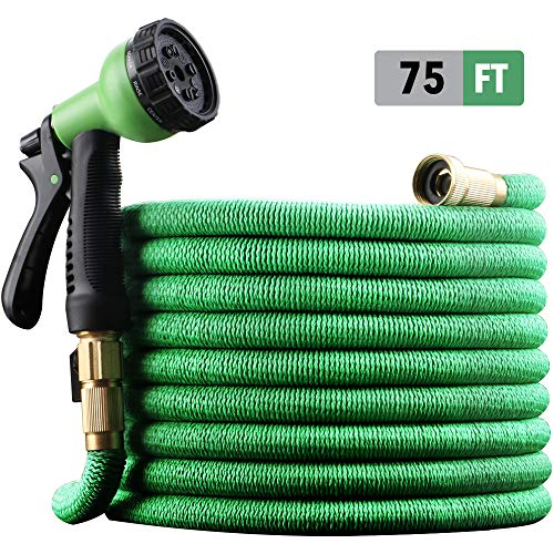 EnerPlex [2019 Upgraded] X-Stream 50 ft Non-Kink Expandable Garden Hose, 10-Pattern Spray Nozzle...