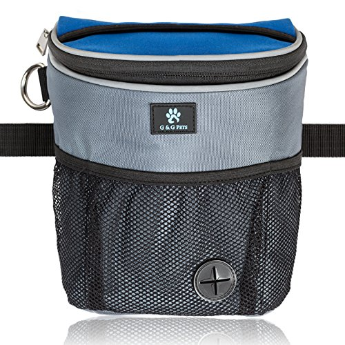 G&G Pets  Large Dog Treat Pouch for Obedience and Agility Training - Includes Adjustable Waist Belt,...