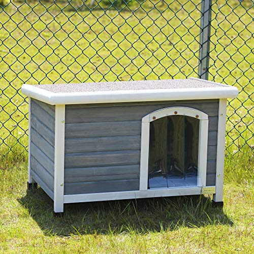 Petsfit 33.9 X 22.6 X 23.1 Inches Wooden Dog Houses, Dog House Outdoor