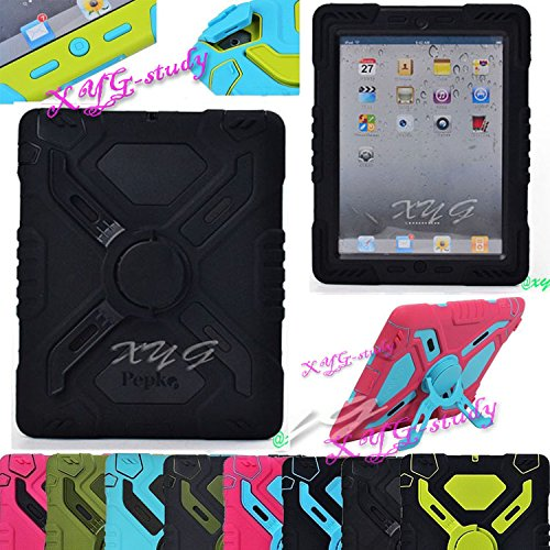 NEW Shockproof Dirt Snow Sand Proof Extreme Army Military Heavy Duty Cover Case Kickstand for Apple...
