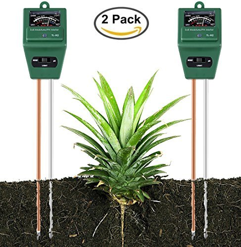 Yinat Soil Moisture Meter By Light and PH/Acidity Meter Plant Tester for Houseplants, Outdoor...