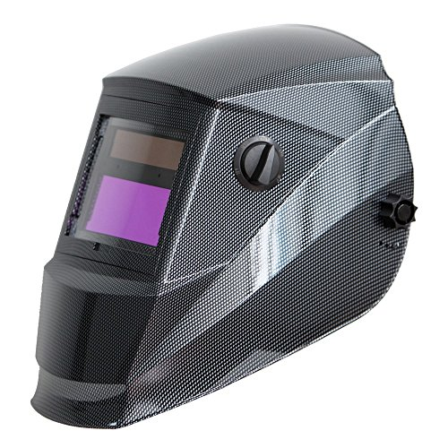 Antra AH6-260-001X Auto Darkening Welding Helmet Wide Shade Range 4/5-9/9-13 Engineered for TIG...